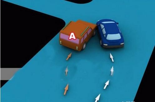 超越正在左转弯车A车负全责