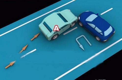 超越前方正调头的A车负全责